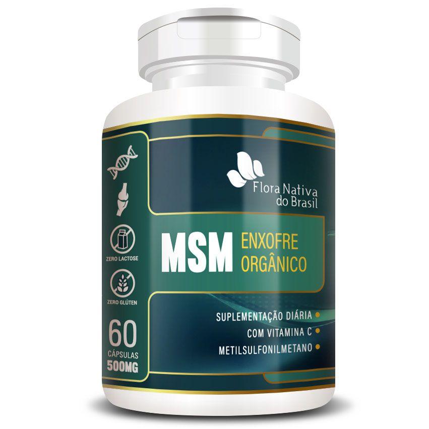 MSM - Enxofre Orgânico - 60 cápsulas de 500mg  - Natural Show - Produtos Naturais, Suplementos e Cosméticos
