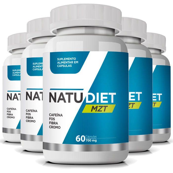 Natu Diet MZT - Emagrecedor que Seca Barriga e Desincha - 05  Potes (Original)  - Natural Show - Produtos Naturais, Suplementos e Cosméticos