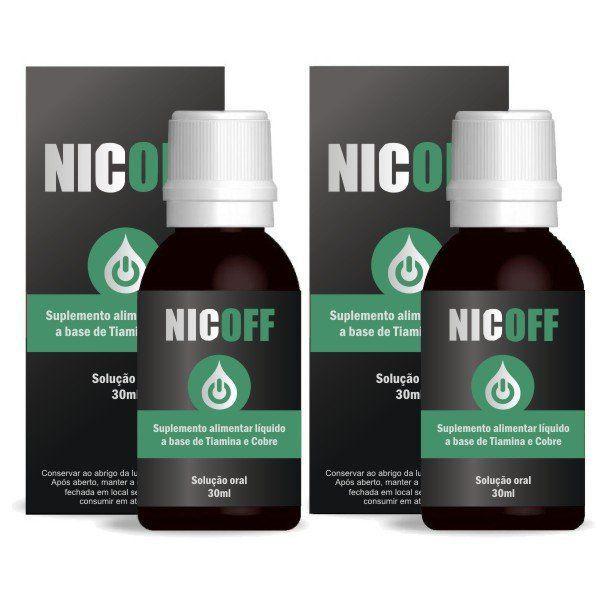NicOff Gotas - Original - Tratamento para Parar de Fumar - 2 Frascos  - Natural Show - Produtos Naturais, Suplementos e Cosméticos