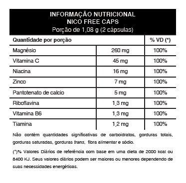 Nicofree Original - Tratamento Parar de Fumar | Capsulas + Enxaguante Bucal   - Natural Show - Produtos Naturais, Suplementos e Cosméticos