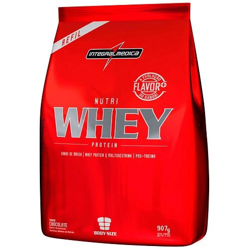 Nutri Whey Protein 907 g Refil - Integralmédica - Unissex - Chocolate   - Natural Show - Produtos Naturais, Suplementos e Cosméticos