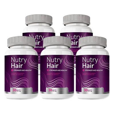 Nutry Hair Original   Vitamina para Cabelo - 05 Potes  - Natural Show - Produtos Naturais, Suplementos e Cosméticos
