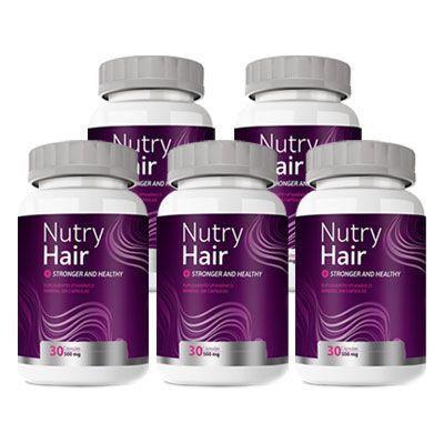 Nutry Hair Vitamina para Cabelo - 05 Potes (Original)  - Natural Show - Produtos Naturais, Suplementos e Cosméticos