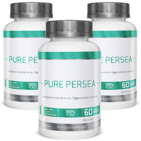 Pure Persea - Original - Óleo de Abacate 100% - Emagrecedor - 03 Potes   - Natural Show - Produtos Naturais, Suplementos e Cosméticos