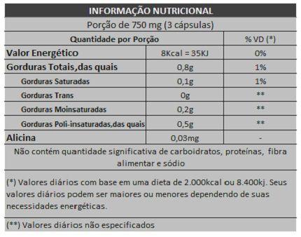 Óleo de Alho - 250mg - 05 Potes  - Natural Show - Produtos Naturais, Suplementos e Cosméticos