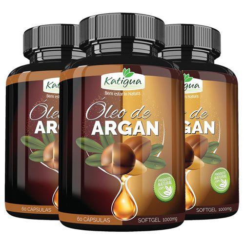 Emagrecedor Óleo de Argan Original (Slim Fit) 1000mg - 03 Potes  - Natural Show - Produtos Naturais, Suplementos e Cosméticos