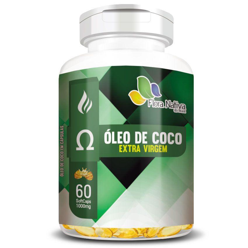 Óleo de Coco Extra Virgem - 60 cápsulas de 1000mg  - Natural Show - Produtos Naturais, Suplementos e Cosméticos