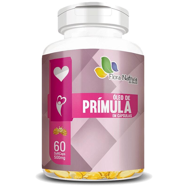 Óleo de Prímula 500mg - 100% Puro - 60 cápsulas
