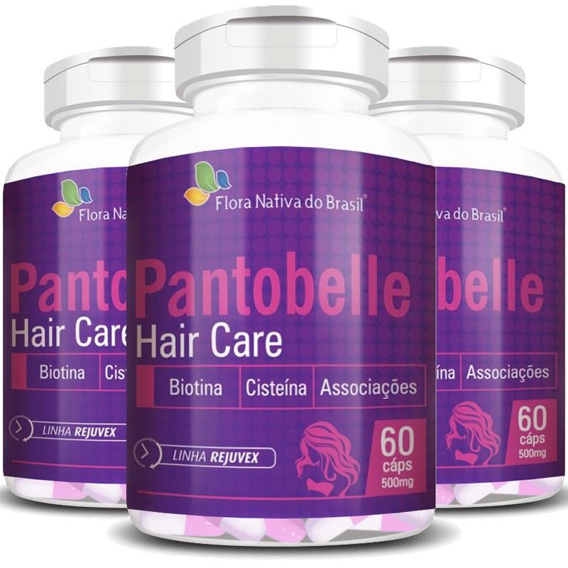 Pantobelle Hair Care 500mg, Original - 3 Potes (180 cáps.)