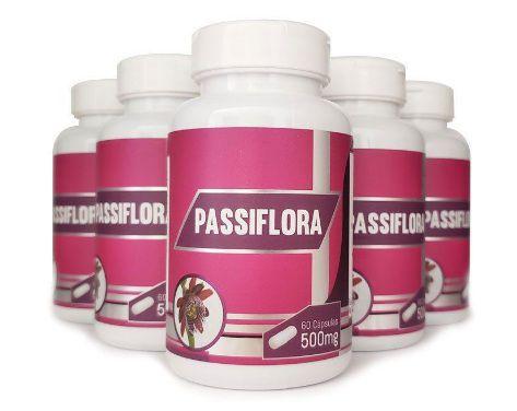 Passiflora Original (Maracujá) - 500mg - 05 Potes  - Natural Show - Produtos Naturais, Suplementos e Cosméticos
