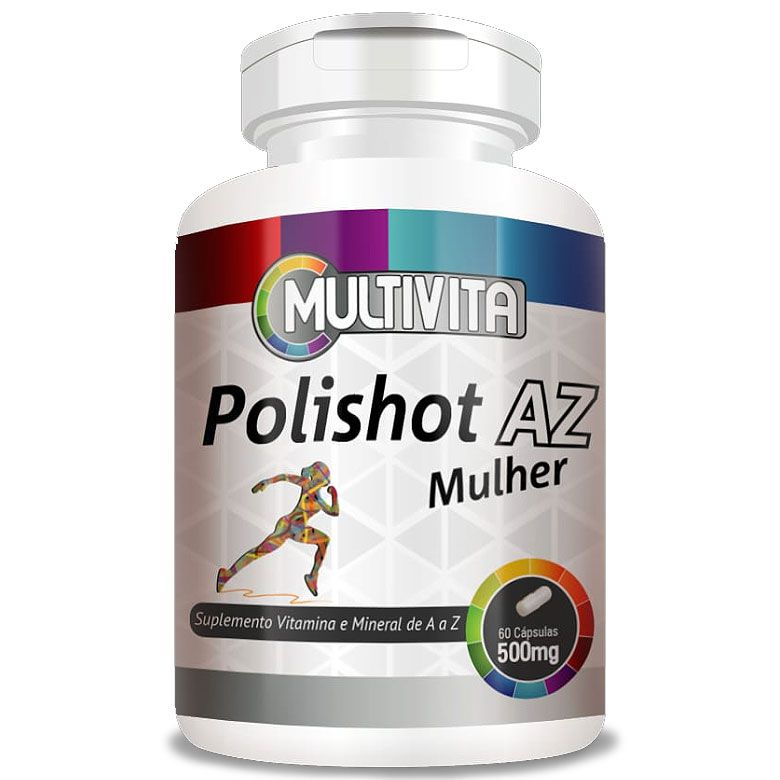 Polishot AZ Mulher (Polivitaminico / Multivitaminico) 60 cáps. de 500mg  - Natural Show - Produtos Naturais, Suplementos e Cosméticos