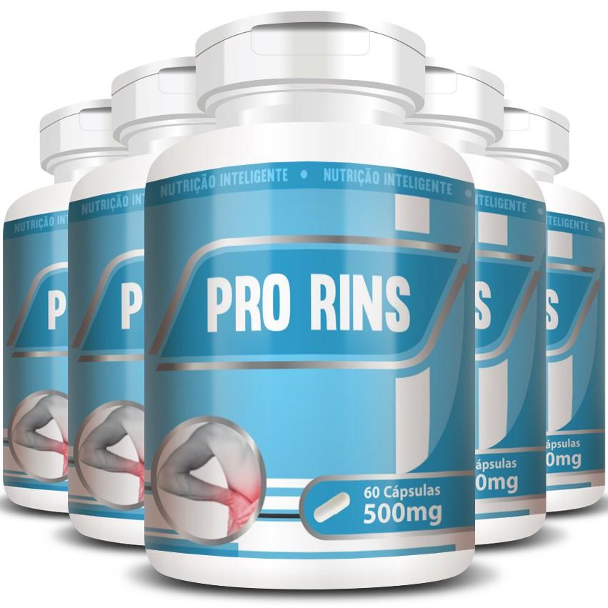 Pro Rins 500mg - 05 Potes com 60 cápsulas  - Natural Show - Produtos Naturais, Suplementos e Cosméticos