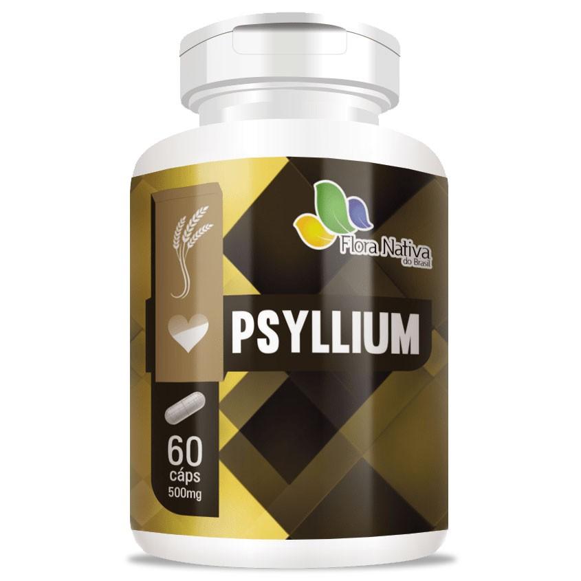 Psyllium 500mg - Emagrecedor Rico em Fibras - 60 cápsulas
