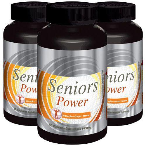 Estimulante Sexual Seniors Power - 03 Potes (Original)  - Natural Show - Produtos Naturais, Suplementos e Cosméticos