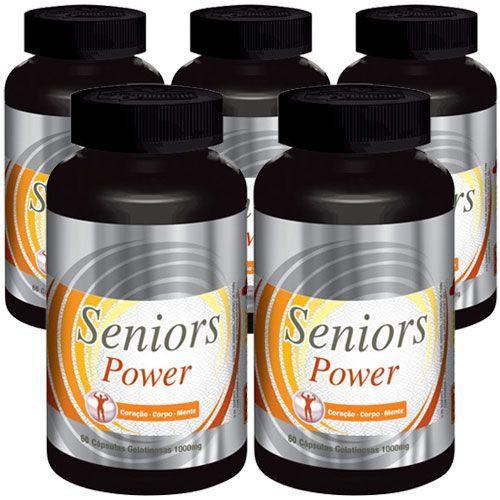 Estimulante Sexual Seniors Power - 05 Potes (Original)  - Natural Show - Produtos Naturais, Suplementos e Cosméticos