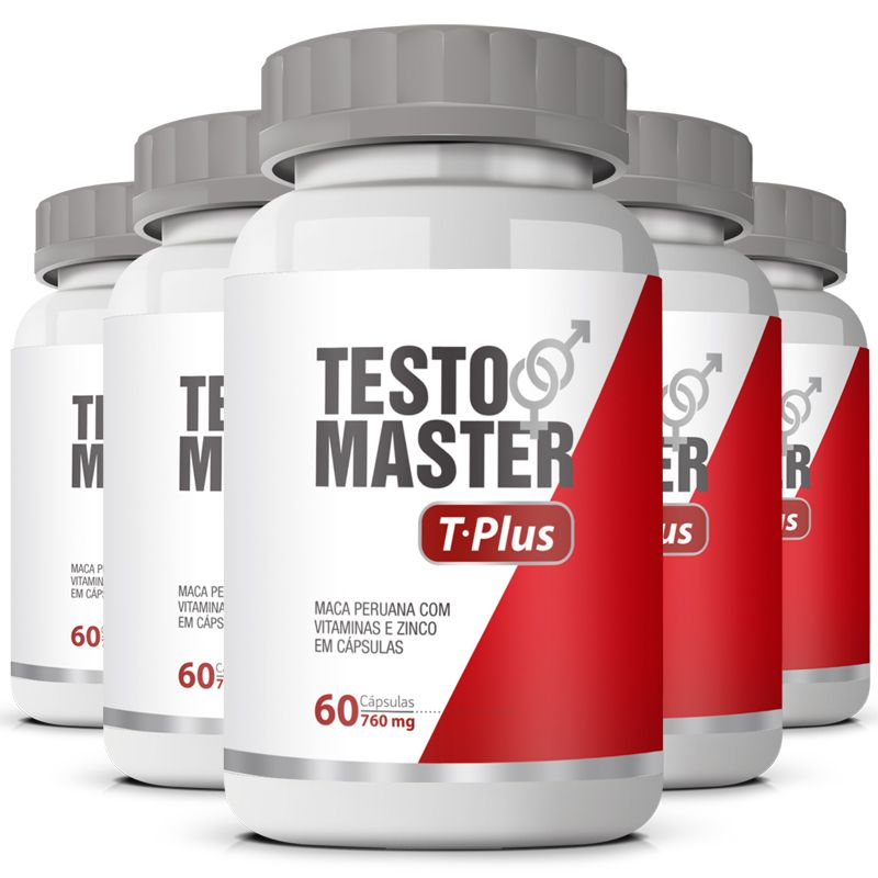 Estimulante Sexual Testomaster T Plus Original 760mg - 5 Potes (300 cáps.)