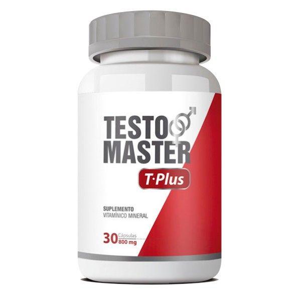 Testomaster T-Plus - Original - Estimulante Sexual - 01 Pote   - Natural Show - Produtos Naturais, Suplementos e Cosméticos