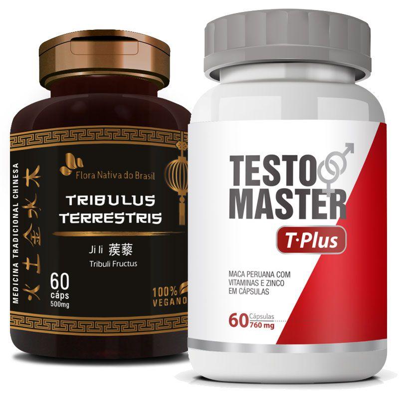 Testomaster T-Plus 760mg + Tribullus Terrestris 500mg   - Natural Show - Produtos Naturais, Suplementos e Cosméticos