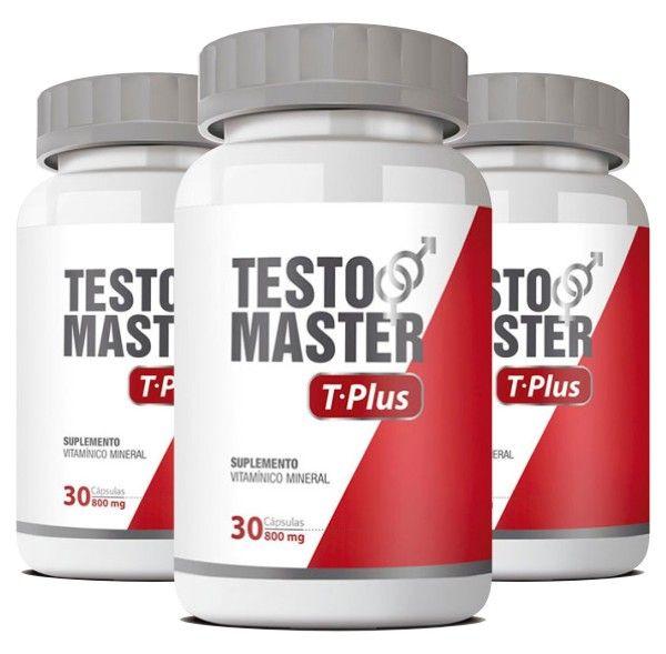 Testomaster T-Plus - Original - Estimulante Sexual - 03 Potes   - Natural Show - Produtos Naturais, Suplementos e Cosméticos