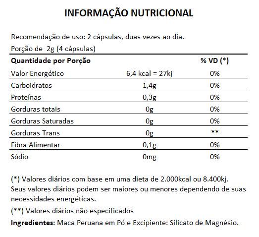 Tribullus Terrestris 500mg + Maca Peruana 500mg  - Natural Show - Produtos Naturais, Suplementos e Cosméticos