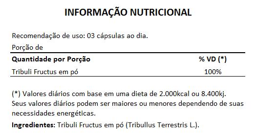 Tribullus Terrestris (Ji Li - Tribuli Fuctrus) - 100% Vegano 500mg - 1 Pote  - Natural Show - Produtos Naturais, Suplementos e Cosméticos