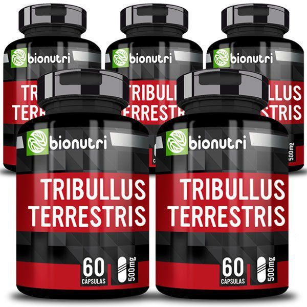Tribullus Terrestris - Original - 500mg - 5 Potes  - Natural Show - Produtos Naturais, Suplementos e Cosméticos