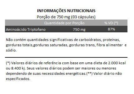 Triptofano - 100% Puro - 250mg - 03 Potes  - Natural Show - Produtos Naturais, Suplementos e Cosméticos