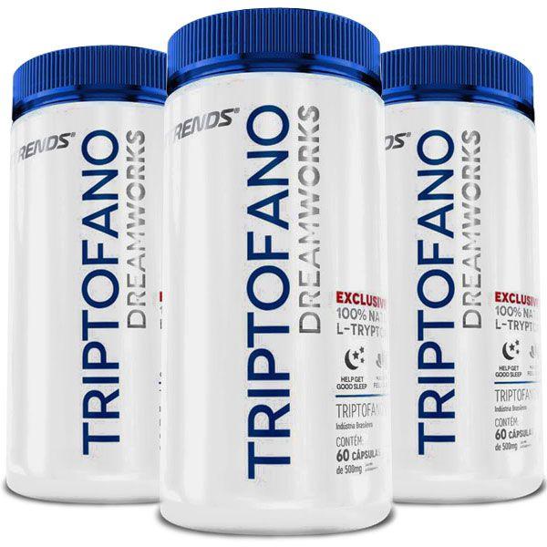 Triptofano - L-Tryptophan - Original - 03 Potes  - Natural Show - Produtos Naturais, Suplementos e Cosméticos