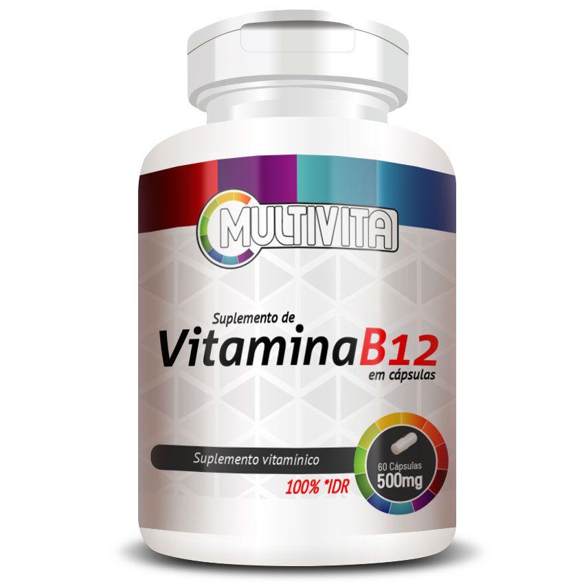 Vitamina B12 - 60 cápsulas de 500mg  - Natural Show - Produtos Naturais, Suplementos e Cosméticos