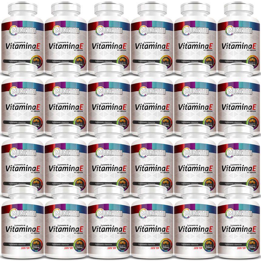 Vitamina E em Cápsulas de 250mg - 24 Potes (Atacado)  - Natural Show - Produtos Naturais, Suplementos e Cosméticos