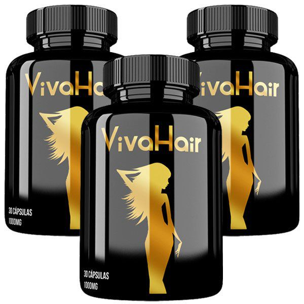 Vitamina para Cabelos Viva Hair Original - 03 Potes  - Natural Show - Produtos Naturais, Suplementos e Cosméticos
