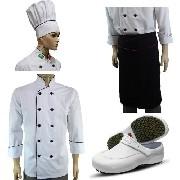 e8350b656f117 Kit Dólmã+touca Personalizada+avental+sapato Chef De Cozinha - WP ...