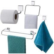 Acessórios de Banheiro Kit Com 6 Peças Inox Fixação Parafuso