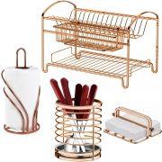 Acessórios de Cozinha Conjunto 4 Peças Rosé Gold