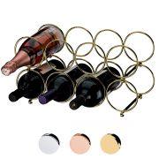 Adega Empilhável Componível Para 8 Garrafas Rosé Dourado e Cromado