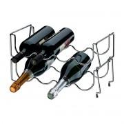 Adega Empilhável para 8 Garrafas em Aço Carbono Vinhos Champagnes