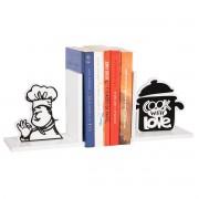 Aparador de Livros Cook With Love Chef de Cozinha em MDF