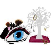 Árvore Porta Jóias e Bijuterias Display Porta Pinceis de Maquiagem