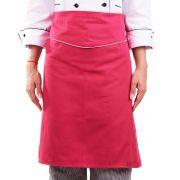 Avental de Cintura Feminino Madrid Chef Restaurante - Rosa