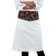 Avental de Cintura Para Chef de Cozinha Alpineia Rosas - Wp Connect