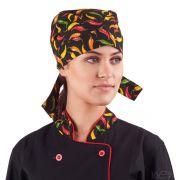 Bandana Chef de Cozinha Restaurantes Sushi Estampa Pimenta