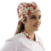Bandana Floral Chef de Cozinha Gastronomia