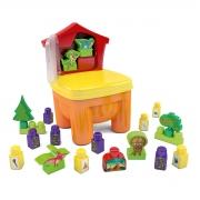 Cadeirinha de Brinquedo Infantil Blocos Dinossauros - Wp Connect