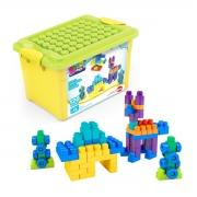 Caixa de Brinquedo com Blocos de Montar 120 Peças - Wp Connect
