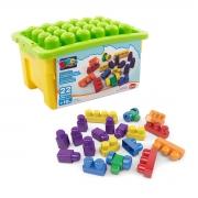 Caixa de Brinquedo com Blocos de Montar 22 Peças - Wp Connect