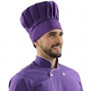 Chapéu Ajustável Chef de Cozinha Confeiteiro Roxo com Preto