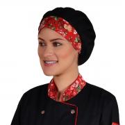 Chapéu Touca Estampada Floral Feminina Clinicas Consultórios Cozinheiras - Wp Connect