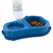 Comedouro Automático para Cães e Gatos Duplo Bebedouro Água Ração