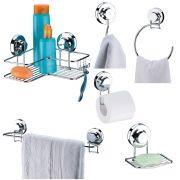 Conjunto de Acessórios Para banheiro  Cromado Praticita