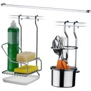 Conjunto Para Barra de Cozinha 3 Pçs Porta Detergente Talher